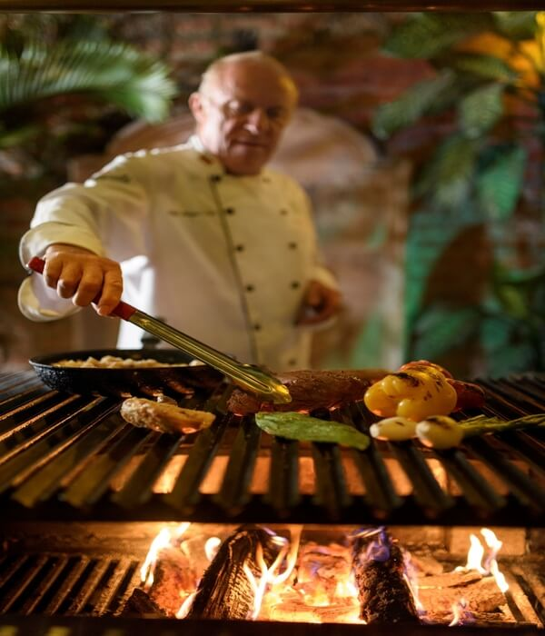 Our in-house german chef working on the grill